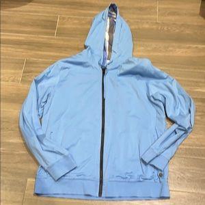 Hugo Boss orange label blue reversible zip up XXL